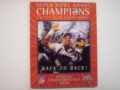 1999 SB XXXIII BRONCOS COMMEMORATIVE EDITION