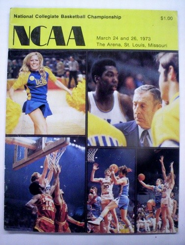 1973 NCAA Basketball Championship Program (UCLA / Memphis State)