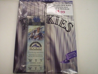 Colorado Rockies 1993 Opening Day Ticket & Program Lot