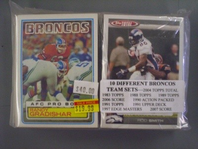 Denver Broncos Team Set Lot (10 Sets)