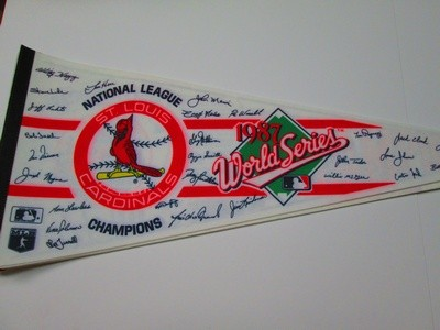 1987 NL CHAMPS CARDSw/sigs