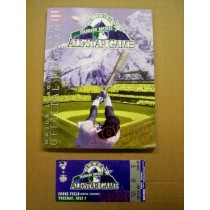 Colorado Rockies 1998 All-Star Game Program and Ticket