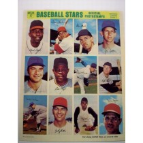 1969 MLB Photostamps set