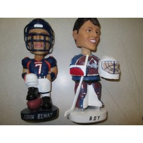 John Elway and Patrick Roy Bobbles