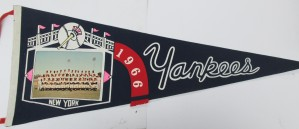 1966 New York Yankees Photo Pennant