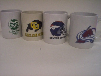 Asst. NFL, MLB, NHL, NBA, & College Logo Coffee Mugs
