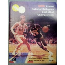 1977 NCAA Basketball Championship Program (Marquette / North Carolina)