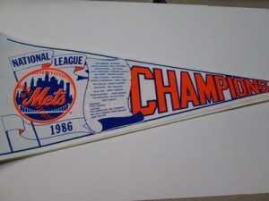 1986 NL CHAMPS METS